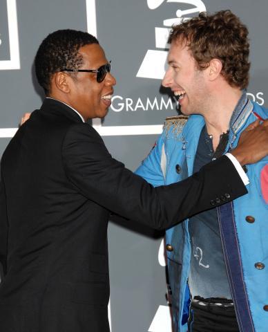 Chris Martin, Jay Z - Los Angeles - 09-02-2009 - Star come noi: anche i vip hanno i loro beniamini