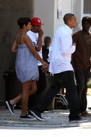Chris Brown, Rihanna - Hollywood - 25-08-2008 - Chris Brown gia' violento a 11 anni