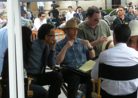 "Ayelet Zurer, Ron Howard, Tom Hanks - Roma - 05-06-2008 - La Chiesa Cattolica protesta contro il film ""Angeli e Demoni"""