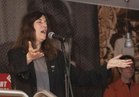 Patti Smith - Milano - 23-02-2009 - Patti Smith e Carmen Consoli insieme per l'Earth Day