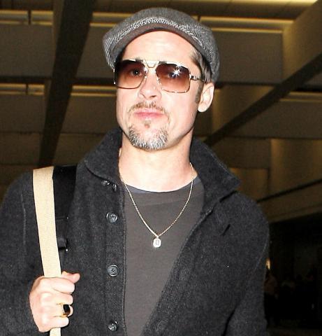"""Brad Pitt - Los Angeles - 27-02-2009 - Brad Pitt trovato a letto con la """"tata"""""""