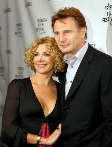 Liam Neeson, NATASHA RICHARDSON - Toronto - 17-03-2009 - Suoceri famosi delle star... e dove trovarli!