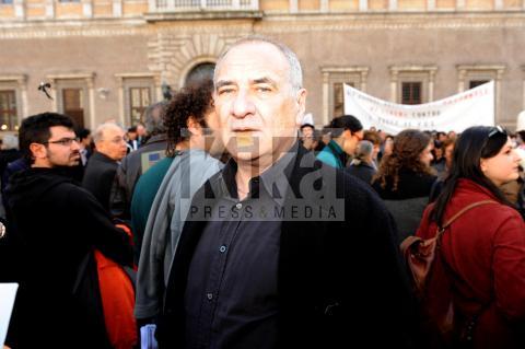 """Vincenzo Cerami - Roma - 31-03-2009 - Roberto Benigni: """" Un regalo grande aver conosciuto Cerami"""""""