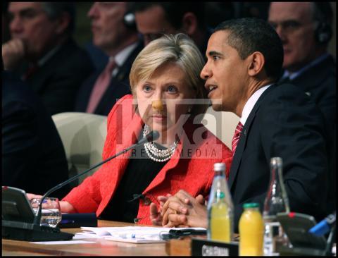 Hillary Clinton, Barack Obama - Strasburgo - 05-04-2009 - Hillary Clinton: