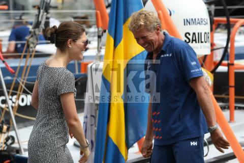 Pedro Campos, Torben Grael, Principessa Vittoria di Svezia - Rio de Janeiro - 03-04-2009 - Victoria di Svezia in visita a Rio de Janeiro