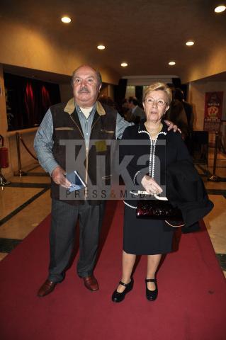 moglie, Lino Banfi - Roma - 19-04-2009 - Maurizio Costanzo alla prima de