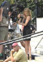 Jennifer Aniston - New York - 04-08-2009 - Jennifer Aniston si da al canto in The Goree Girls