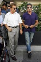 Sylvester Stallone, Arnold Schwarzenegger - Beverly Hills - 28-08-2009 - Lo Staple Centre fischia Arnold Schwarzenegger