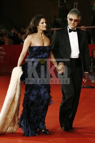 Enrica Cenzatti, Andrea Bocelli - Roma - 17-10-2009 - Andrea Bocelli cantera' per Oprah Winfrey