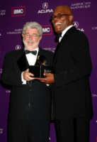 "George Lucas, Samuel L. Jackson - Beverly Hills - 18-02-2010 - George Lucas ferma la produzione di Red Tails: ""Dobbiamo rigirarlo"""
