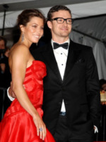 Jessica Biel, Justin Timberlake - New York - 25-09-2009 - Jessica Biel a New York per sostenere la sfilata di Justin Timberlake