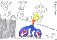 Disegno Gillian Anderson - Le star disegnano per beneficenza