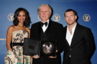 Sam Worthington, Zoe Saldana, James Cameron - Century City - 30-01-2010 - James Cameron prepara non uno ma quattro sequel di Avatar