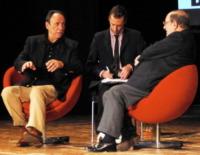 F. Murray Abraham, Umberto Eco - busto arsizio - 21-03-2010 - Umberto Eco e F. Murray Abraham ospiti del Busto Arsizio Film Festival