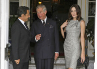 Principe Carlo d'Inghilterra, Nicolas Sarkozy, Carla Bruni - Londra - 18-06-2010 - Carla Bruni a Verissimo: