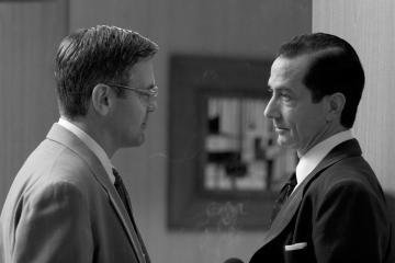David Strathairn, George Clooney - Los Angeles - 06-02-2006 - E' morto il giornalista Joseph Wershba che ispirò il film Good night and good luck