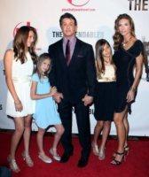 Scarlet Stallone, Sistine Rose Stallone, Jennifer Flavin, Sylvester Stallone - 11-08-2010 - Sylvester Stallone perde la pazienza per una multa