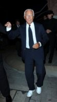 Giorgio Armani - Londra - 08-09-2010 - Giorgio Armani disegnera' l'abito di Charlene Wittstock