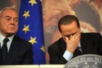 Gianni Letta, Silvio Berlusconi - Roma - 26-11-2010 - Processo Mediaset: la Cassazione conferma condanna a Berlusconi