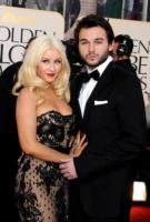 Matthew Rutler, Christina Aguilera - Los Angeles - 16-01-2011 - Golden Globes 2011: le coppie sul red carpet