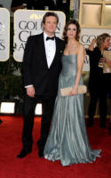 Livia Giuggioli, Colin Firth - Los Angeles - 16-01-2011 - Golden Globes 2011: le coppie sul red carpet