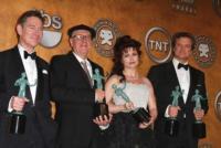 Anthony Andrews, Helena Bonham Carter, Colin Firth, Geoffrey Rush - Los Angeles - 31-01-2011 - Geoffrey Rush apre la polemica si Il discorso del re