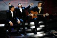 Paolo Kessisoglu, Luca Bizzarri, Gianni Morandi - Sanremo - 17-02-2011 - Il Festival di Sanremo rende omaggio ai 150 anni dell'Unità d'Italia