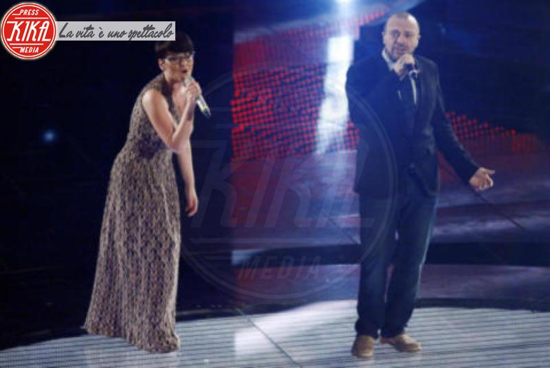 Arisa, Max Pezzali - Sanremo - 17-02-2011 - Il Festival di Sanremo rende omaggio ai 150 anni dell'Unità d'Italia
