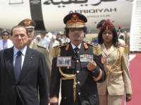 Muhammar Gheddafi, Silvio Berlusconi - Roma - 10-06-2009 - Roberto Saviano, una serie tv sulla vita di Gheddafi