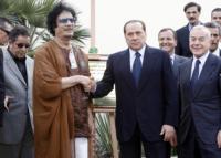 Muhammar Gheddafi, Silvio Berlusconi - Roma - 30-08-2010 - Roberto Saviano, una serie tv sulla vita di Gheddafi