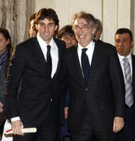 Diego Milito, Massimo Moratti - Milano - 02-03-2011 - Ecco i calciatori nel mirino dell'anonima sequestri