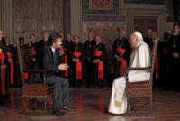 Nanni Moretti, Michel Piccoli - Milano - 07-03-2011 - Nanni Moretti entra nelle dinamiche del Vaticano con il film Habemus Papam