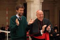 Renato Scarpa, Nanni Moretti - Milano - 07-03-2011 - Nanni Moretti entra nelle dinamiche del Vaticano con il film Habemus Papam