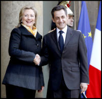 Nicolas Sarkozy, Hillary Clinton - Hillary Clinton: