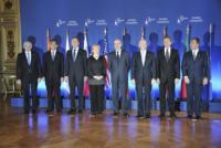 Allain Juppe, Guido Westerwelle, Takeaki Matsumoto, Sergei Lavrov, Lawrence Cannon, Franco Frattini, William Hague, Hillary Clinton - Hillary Clinton: