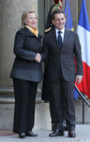 Nicolas Sarkozy, Hillary Clinton - Parigi - 14-03-2011 - Hillary Clinton:
