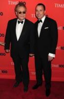 David Furnish, Elton John - New York - 04-05-2010 - Lady Gaga sara' la madrina del figlio di Elton John