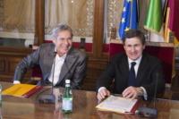 Gianni Alemanno, Claudio Baglioni - Roma - 04-12-2010 - I primi 60 anni di Claudio Baglioni