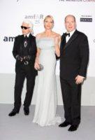 Principe Alberto di Monaco, Principessa Charlene Wittstock, Karl Lagerfeld - Cannes - 19-05-2011 - Karl Lagerfeld, ecco le sue ultime volontà