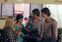 Oliver Phelps, James Phelps - Roma - 01-07-2011 - Evanna Lynch e i gemelli James e Oliver Phelps a Roma in attesa di Harry Potter e i doni della morte: Parte II