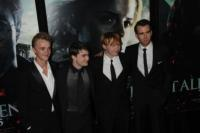 Tom Felton, Daniel Radcliffe, Rupert Grint, Matthew Lewis - New York - 12-07-2011 - Harry Potter: l'interprete di Neville si è sposato in Italia