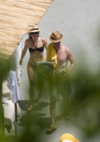 Shauna Robertson, Edward Norton - Amalfi - 14-07-2011 - Trump e gli altri: i vip in italia per una vacanza 5 stelle