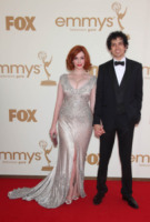 Geoffrey Arend, Christina Hendricks - Los Angeles - Emmy 2011: gli arrivi sul red carpet