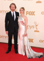 Peter Thum, Cara Buono - Los Angeles - 18-09-2011 - Emmy 2011: gli arrivi sul red carpet