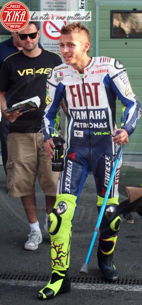 Valentino Rossi - Brno - 14-07-2010 - Bende, cerotti, gessi, la dura vita della star