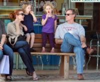 Savannah Mahoney, Eden Mahoney, Tom Mahoney, Marcia Cross - Santa Monica - 16-10-2011 - Clooney-Amal e la carica delle star con gemelli in casa