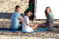 Brian Van Holt, Sarah Chalke, Courteney Cox - Los Angeles - 28-10-2011 - Courteney Cox si rompe un polso e interrompe le vacanze