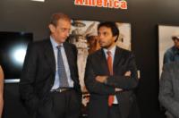 Stefano Gallo, Piero Fassino - Torino - 13-11-2011 - Claudio Santamaria e' il menestrello della Mole Antonelliana