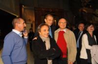 Ugo Nespolo, Piero Fassino - Torino - 13-11-2011 - Claudio Santamaria e' il menestrello della Mole Antonelliana