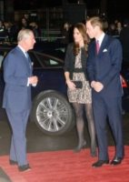 Principe Carlo d'Inghilterra, Principe William, Kate Middleton - Londra - 06-12-2011 - William e Kate al concerto di Gary Barlow con Carlo e Camilla, per beneficenza